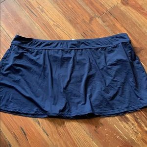 Anne Cole Signature navy swimsuit skirt 24W